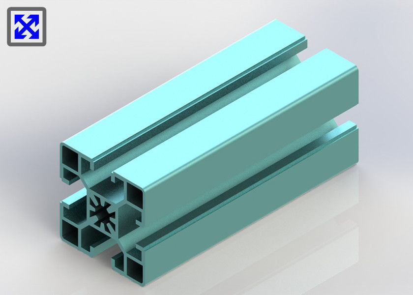 Sky Blue Color 40 * 40 Anodizing T Slot Aluminum Profile For Architectural Use