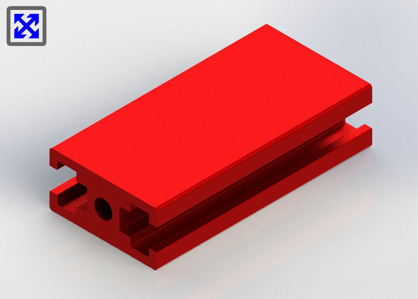 Red Color Painted 20 * 40 T Slot Channel Aluminum Small Size Assembly Parts