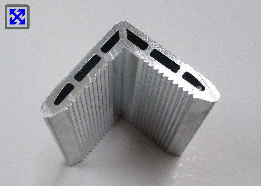 6063 - T5 Hollow Aluminum Angle Profile Natural Color For Solar Frame Panel